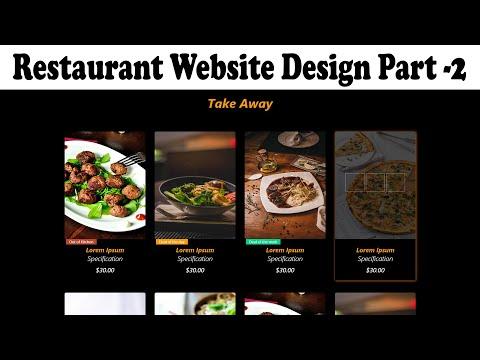 Restaurant Website Part 2 | Food Ordering Website Design Using Bootstrap | Food Ordering Website