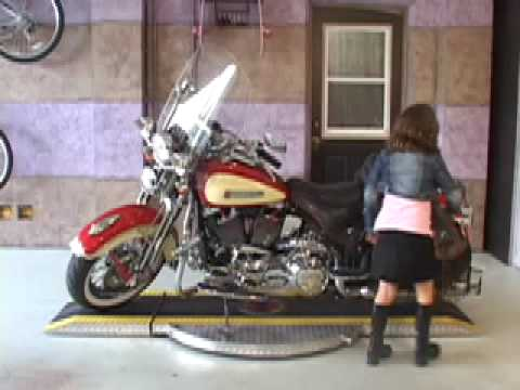 MotorCycle Turntable Cycle Spinner   YouTube