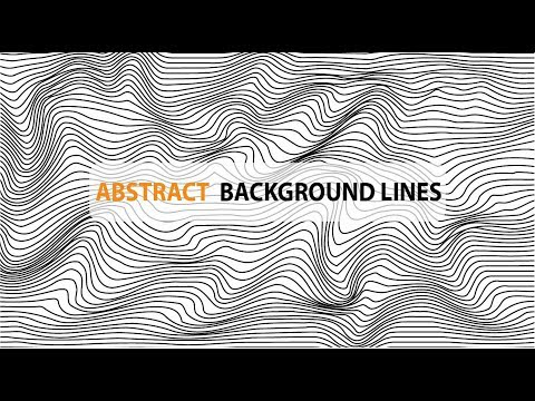 Creating beautiful Abstract Background Lines No plugins Needed in Adobe illustrator