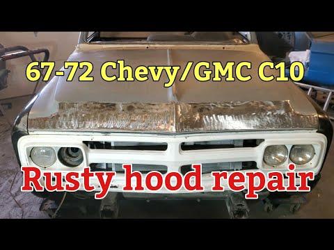 67-72 Chevy/GMC C10 rusty hood repair
