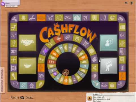 Rich Dad Poor Dad Robert Kiyosaki - How To Play Cashflow 101 Board Game Online