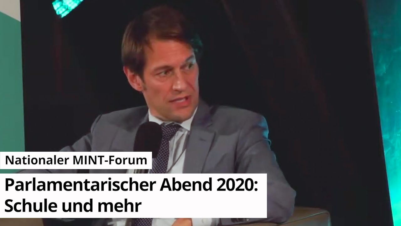 25.11.2020 Nationales MINT-Forum - Parlamentarischer Abend 2020: Schule und mehr