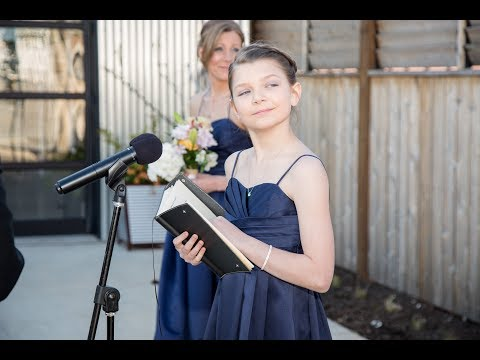 The Best (11 year old) Wedding Officiant Ever!