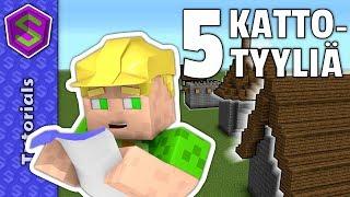 Kuinka rakentaa katto | Minecraft Tutoriaali