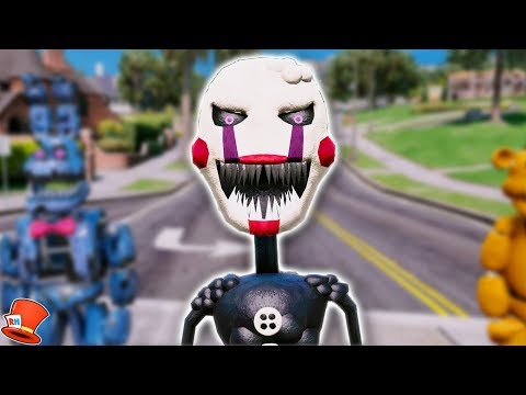BRAND NEW TWISTED PUPPET MASTER ANIMATRONIC! (GTA 5 Mods For Kids FNAF RedHatter)
