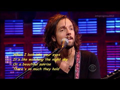 Jason Mraz - I Won't Give Up [ live on David Letterman 2012 ] ( lyrics )
