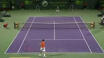 Federer vs Berdych Miami 2010 3rd set tiebreak