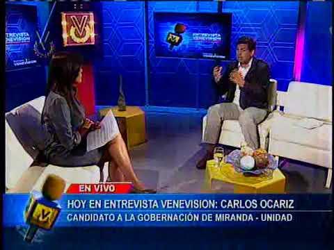 Entrevista Venevisión: Carlos Ocariz, candidato a la Gobernación de Miranda