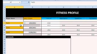 EAF#30 - Excel Radar Chart for Athlete Profile