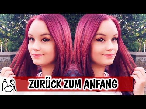 Zurück ZUM ANFANG! DunkelROTE TÖNUNG - Lets Haarefärben