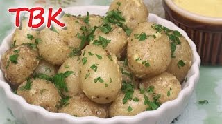 Baby Potatoes With Garlic Dip - Titli's Tapas Kitchen
