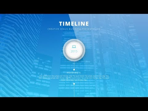 BEAUTIFUL ANIMATED TIMELINE in Microsoft Office PowerPoint PPT