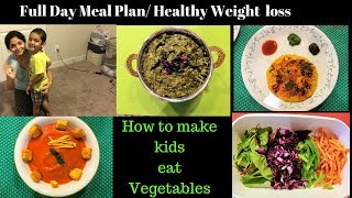 Indian Menu Plan + Recipes -Healthy Weight loss / How to make Kids eat Veggies - RealLife RealHome