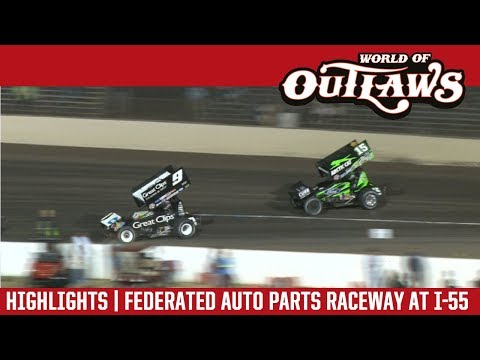 World of Outlaws Craftsman Sprint Cars Fed Auto Parts Raceway August 4, 2017 | HIGHLIGHTS