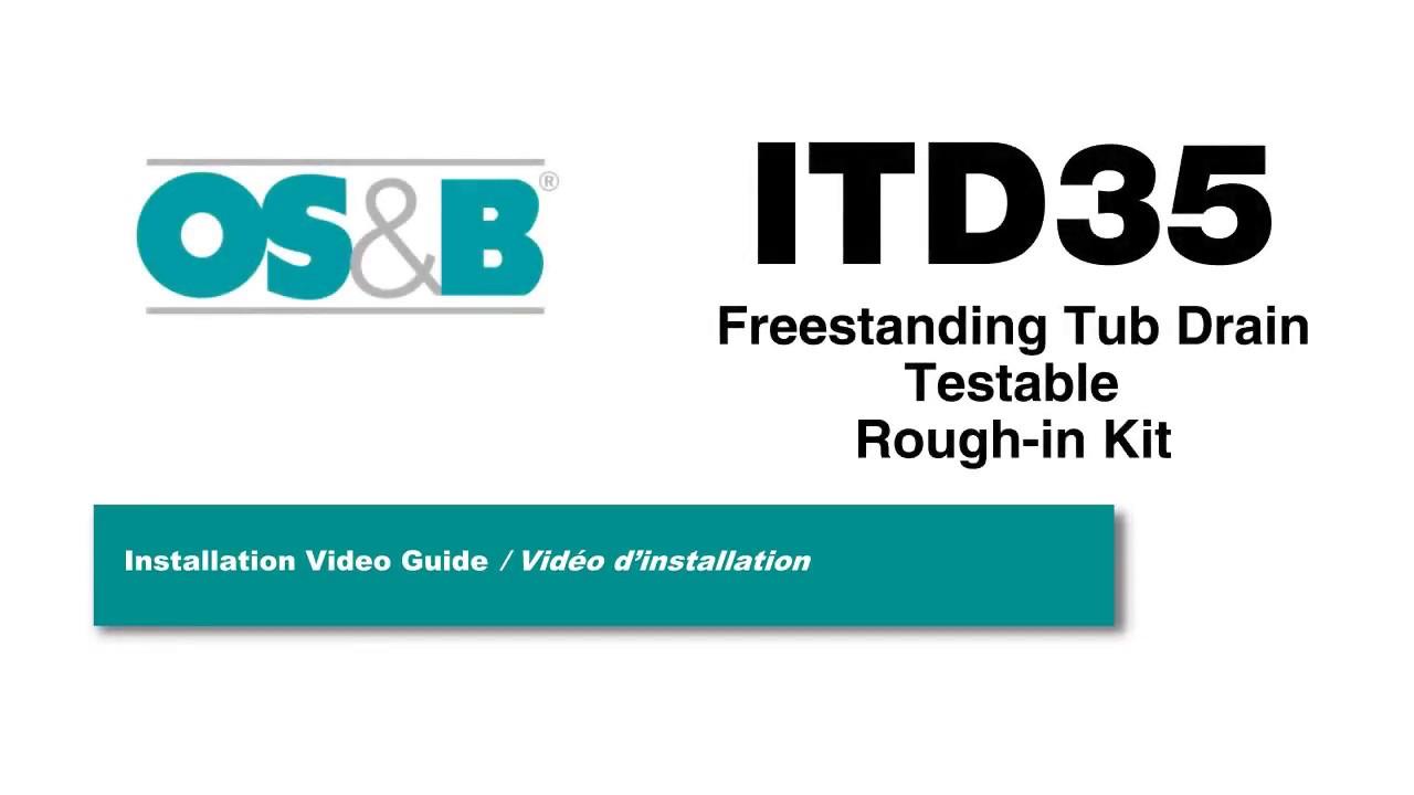 ITD35 Island Tub Drain Testable Freestanding Tub Rough-in ...