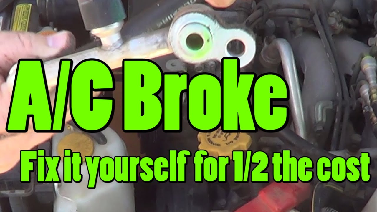 Diy A C Repair Replace Leaky Hose Vacuum And Recharge Your A C