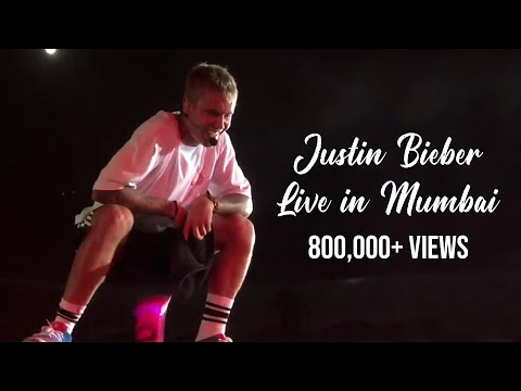 Justin Bieber Live On Stage  In Mumbai, India. The Purpose World Tour 2017.