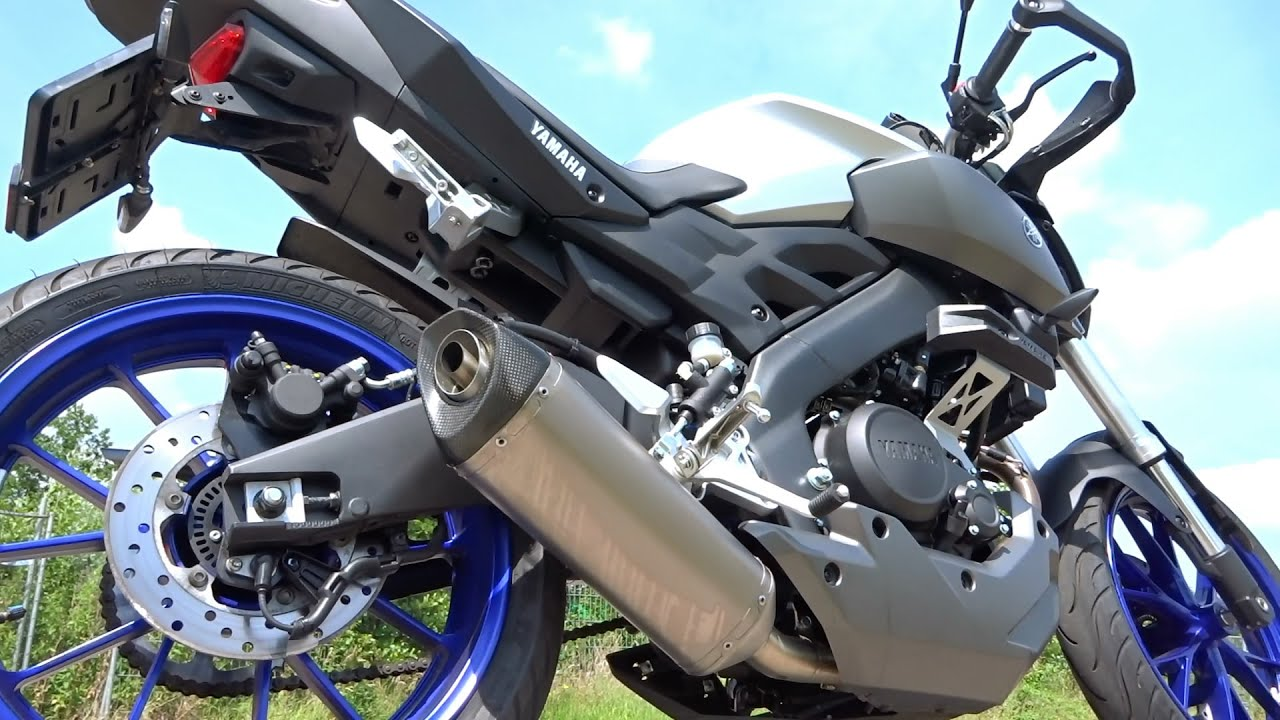 yamaha mt 125 akrapovic exhaust sound with db killer only. Black Bedroom Furniture Sets. Home Design Ideas