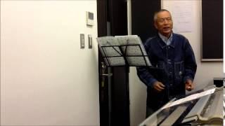 楽譜を作り、 練習しました。