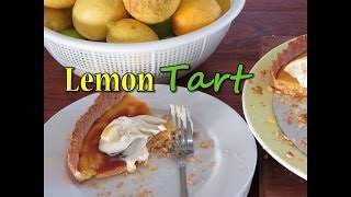 Lemon Tart With Vanilla Whipped Cream - Great For Easter