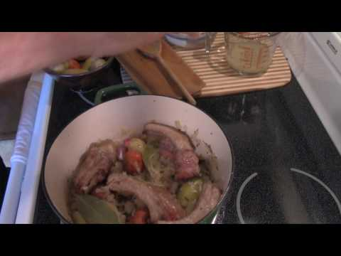 Cooking With Father:  Ribs And Sauerkraut