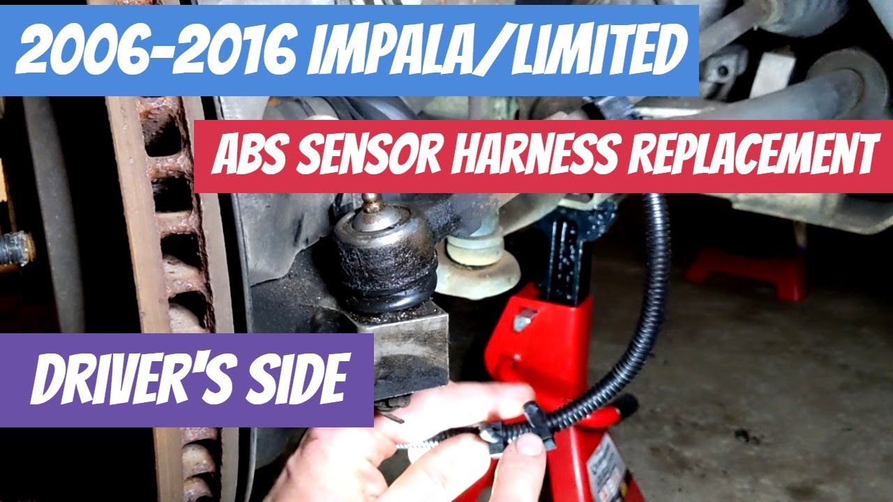 2006-2016 Impala/Limited (9th Gen Impala) ABS Sensor Harness Replacement  (Driver's Side) - YouTubeYouTube
