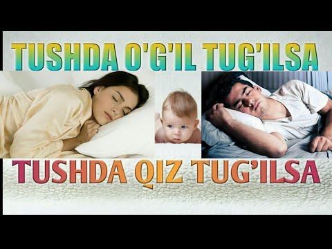 Тушда фарзанд курса Tushda farzand korsa o'g'il qiz угил киз нима булади nima buladi chaqaloq гудак