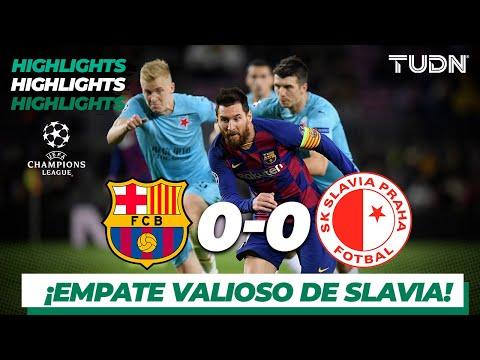 Highlights   Barcelona 0 – 0 Sk Slavia   Champions League – J4 – Grupo F   Tudn