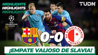 Highlights | Barcelona 0 - 0 Sk Slavia | Champions League - J4 - Grupo F | TUDN