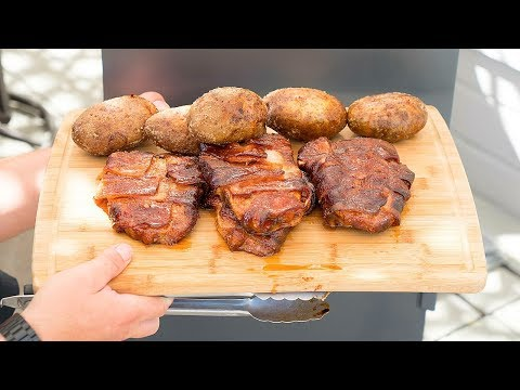 Amazing Smoked Bacon Wrapped Pork Chops