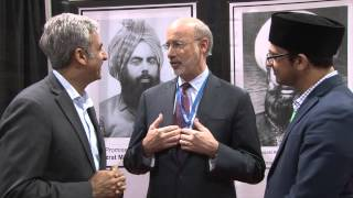 Governor Tom Wolf (Pennsylvania) visits Jalsa Salana USA - 2015