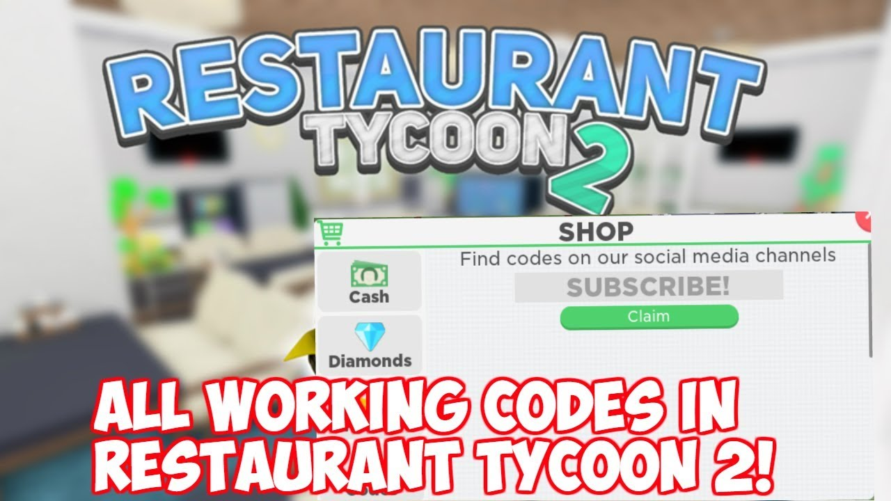 restaurant tycoon roblox codes