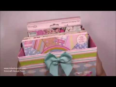 Storage Box Tutorial  8 x 8 Paper Storage  DIY Crafts