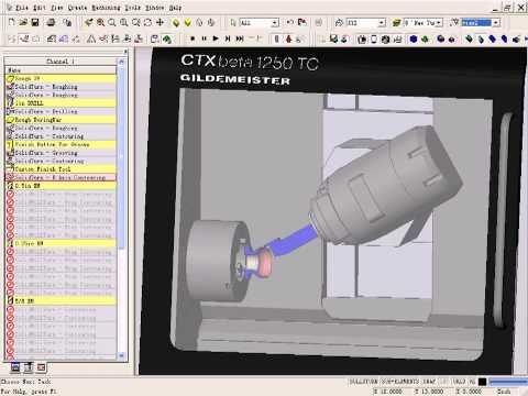 Programowanie obróbki płynnej z uzyciem osi B  na  maszynie Gildemeister CTX 1250 TC