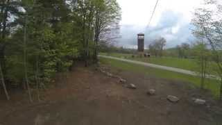 328 feet of zip line from the top of the new 50 ft climbing tower