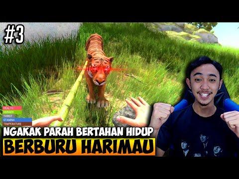 SURVIVAL MELAWAN HARIMAU NGAKAK PARAH - HAND SIMULATOR SURVIVAL INDONESIA #3 - 동영상