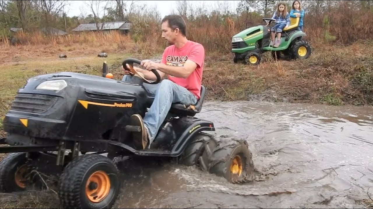 how to start a flooded mower