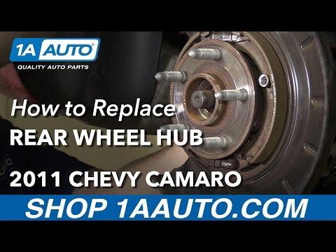 How to Replace Rear Wheel Bearing Hub Assembly V6 3.6L Manual 10-15 Chevy Camaro