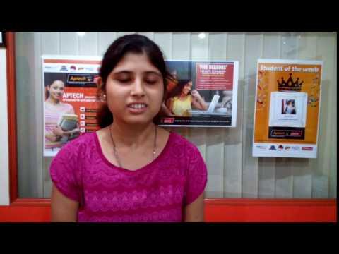 Student Testimonial for Aptech Computer Education Hazra, Behala, Budge Budge