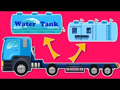 Kids Playtime | Water Tank Makeover | Modification | Advanced Water Tank | Garage video for children