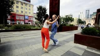 Happy couple. Yury & Taty are dancing samba