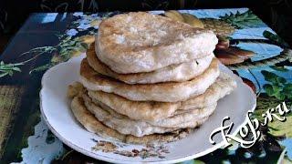Коржи  с чесноком жареные из дрожжевого теста (если нет хлеба)
