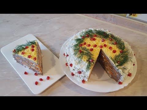 Печёночный торт из куриной печени. Без майонеза!!! Низкокалорийный, праздничный вариант!!!