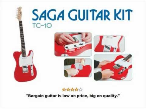 hqdefault saga tc 10 t style electric guitar kit [guitarbuildingkits net,Wiring A Telmaster Guitar Kit Youtube