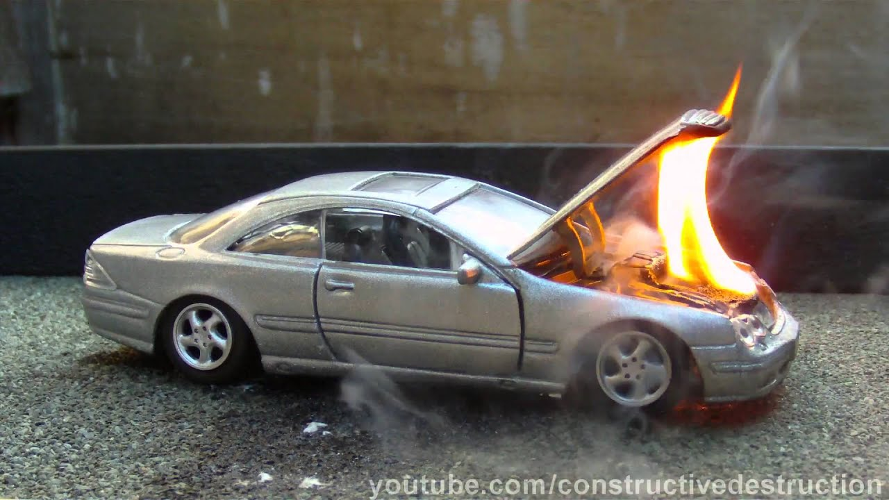 Toy Car Engine Fire Youtube