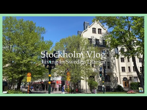 VLOG) Summer in Stockholm - Getting daily steps in, Unboxing package from Korea, Chicken Schnitzel