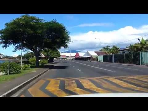 Driving in Apia the capital of SAMOA.