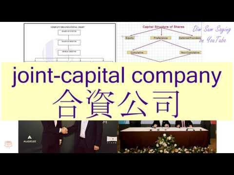 """JOINT-CAPITAL COMPANY"" in Cantonese (合資公司) - Flashcard"