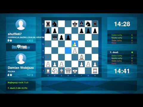Chess Game Analysis: Damian Wołejszo - shuffle67 : 1-0 (By ChessFriends.com)
