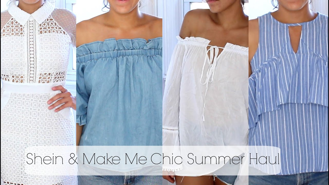 32ac2b350e3 SUMMER CLOTHING TRY-ON HAUL (SHEIN   MAKE ME CHIC) - YouTube